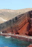 Красный пляж Santorini Стоковые Изображения