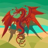 Красный дракон Стоковые Фотографии RF