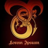 Красный дракон Стоковые Фото