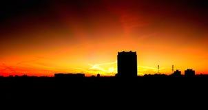 Красный рассвет Стоковые Изображения RF