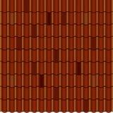 Красный рифлёный элемент плитки крыши безшовно иллюстрация штока