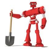 красный робот Стоковое Фото