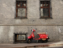 красный самокат Стоковое фото RF