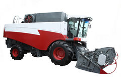Красный самомоднейший зернокомбайн стоковые изображения rf