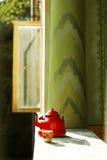 красный сбор винограда чайника Стоковые Фото