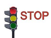Красный светофор также вектор иллюстрации притяжки corel Стоковое Изображение RF