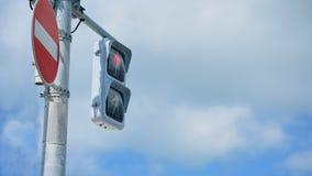Красный светофор, для пешеходов Стоковые Фото