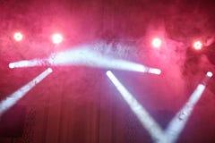 Красный свет и дым стоковые фотографии rf