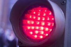 Красный свет дороги стопа движения Стоковые Изображения RF