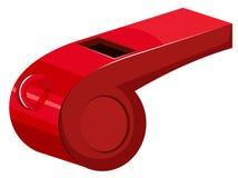 Красный свисток на белой предпосылке Стоковая Фотография