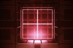 Красный свод, цифровая безопасность Стоковое фото RF
