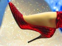 красный сексуальный ботинок Стоковые Фотографии RF