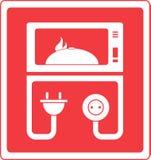Микроволновая печь с тарелкой Стоковые Изображения RF
