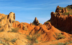 Красный сказ каньона утеса Стоковое Изображение RF