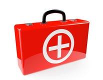 Красный случай скорой помощи бесплатная иллюстрация