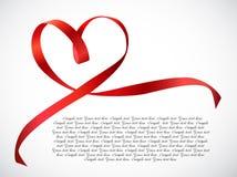 Красный смычок ленты сердца. Вектор бесплатная иллюстрация