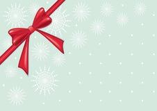 Красный смычок рождества Стоковое Изображение