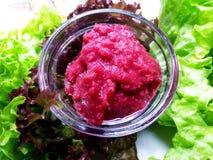 Красный соус хрена стоковое изображение rf
