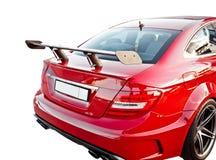 Красный спойлер автомобиля стоковые изображения