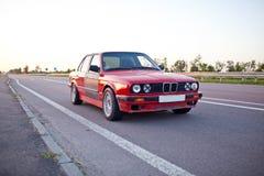 Красный старый автомобиль спорт Стоковая Фотография