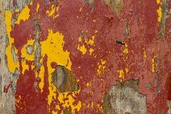 Красный старый деревянный конец предпосылки вверх Пакостный, волокно Стоковая Фотография RF