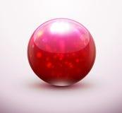 Красный стеклянный мрамор Стоковые Изображения