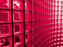 Красный стеклянный блок Стоковые Изображения