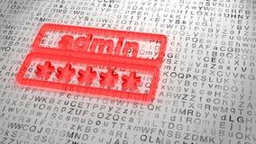 Красный стеклянный вход пароля на случайную предпосылку письма grunge Стоковые Изображения RF