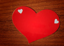 Красный стикер бумаги сердца Стоковое Изображение