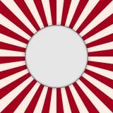 Красный стиль искусства бумаги предпосылки конспекта луча солнца Стоковое Изображение RF