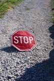 Красный стоп Стоковая Фотография
