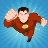 красный супергерой иллюстрация штока