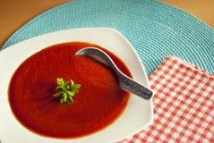 красный суп Стоковая Фотография
