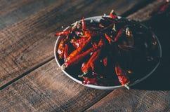 Красный сухой перец Стоковая Фотография