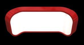 Красный счетчик приема иллюстрация штока