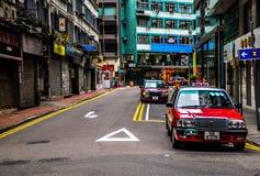 красный таксомотор Стоковое Изображение RF