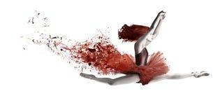 Красный танцор иллюстрация штока
