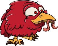Красный талисман вектора птицы Стоковые Фотографии RF