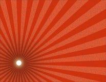 красный текстурированный sunburst Стоковое Изображение RF