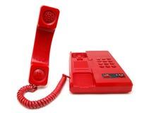 красный телефон Стоковая Фотография RF