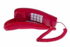 красный телефон Стоковая Фотография