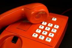 красный телефон стоковые фотографии rf