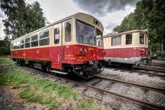 Красный тепловозный поезд Стоковые Изображения RF