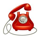 Красный телефон иллюстрация вектора