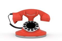 Красный телефон Стоковые Изображения