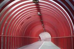 красный тоннель Стоковое Изображение