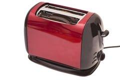 Красный тостер и 2 куска хлеба Стоковая Фотография