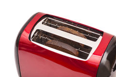 Красный тостер и 2 куска хлеба Стоковые Фотографии RF
