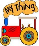 Красный трактор игрушки моя вещь иллюстрация штока