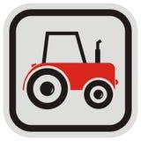 красный трактор Стоковые Изображения